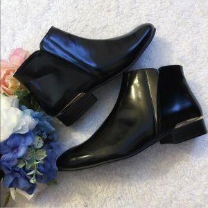 NWT Zara Black Ankle Booties Size 7 1/2